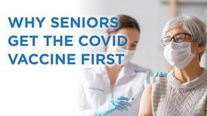 Senior getting covid vaccine