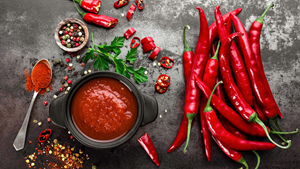 Spicy food on a table