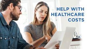 Couple looking at medical bills