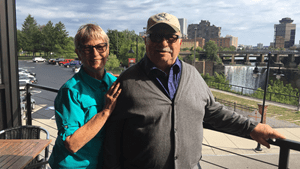 Heart patient Gary Least with his wife in Rochester
