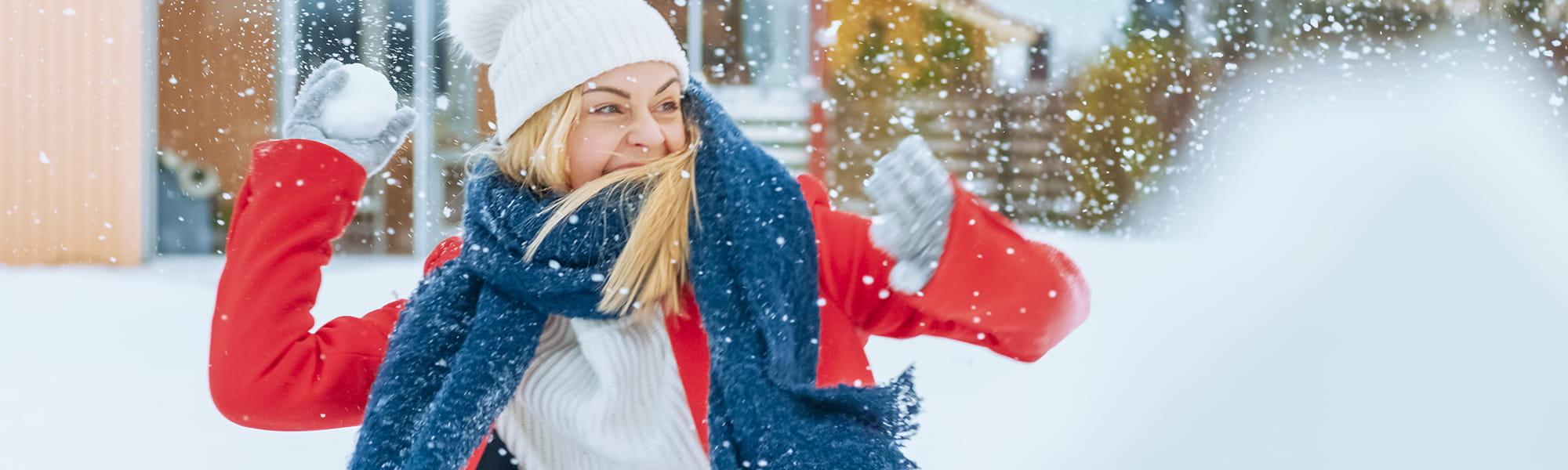 healthy winter activities banner